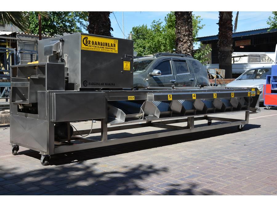 Özsargınlar Paslanmaz Zeytin Eleme Makinası 1500-2000 Kg/H